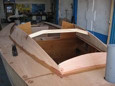 construction pont et roof voilier contre-plaqué Lili 6,10