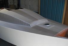 stratification roof voilier contre-plaqué Lili 6,10