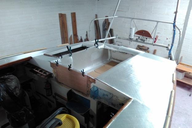 Randonneur Côtier 8m, préparation strat BX 600